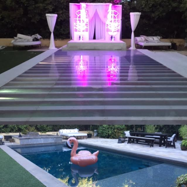 Plexi Glass Dance Floor Over Swimming Pools Los Angeles