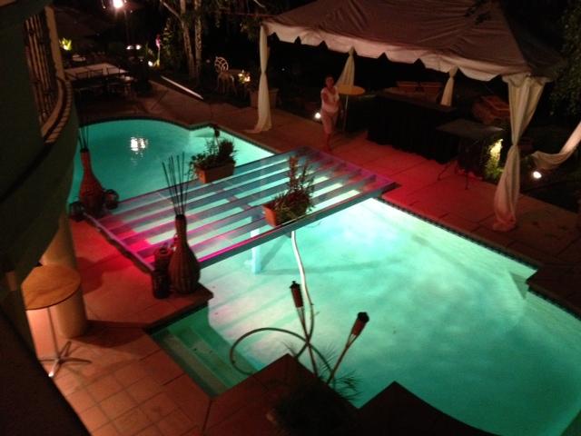 Clear Bridge Dance Floor Pool Cover Rental Plexi Glass