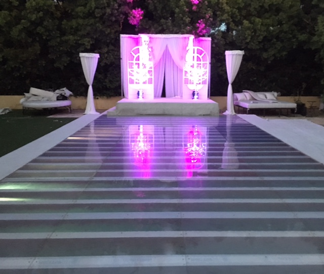 Plexi Glass Dance Floor Pool Cover Los Angeles Dance