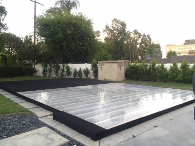 Half Plexi Glass Hald Carpet Pool Cover Dance Floor Pool