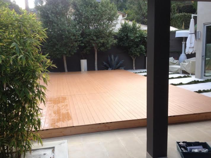 Pool Cover Wood Floring Dance Floor Pool Cover Rental